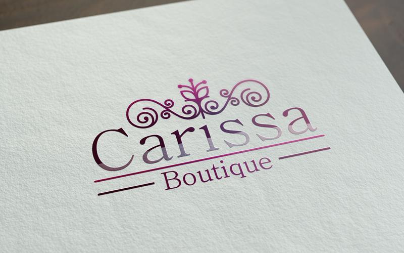 Dise o de logotipo carissa boutique alejasierra for Disenos para boutique